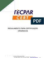 Tecpar - Relulamento Para Certificar Organicos - RC_CERT_P19