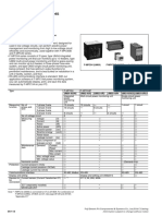 Specifications of Power Monitoring Equipment Power Monitoring Unit F-MPC04, F-MPC04P, F-MPC04S