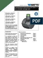 Carat - S series rainwater storage tank Installation Instructions