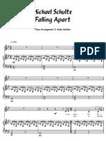 Michael Schulte - Falling Apart PianoVocal