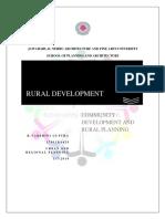 Community Development and Rural Planning - Varshini