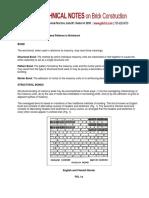 30 Bonds and Patterns in Brickwork