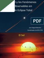 Eclipe Solar Fenomenos Observables Sin Video