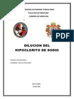 Dilucion Del Hipoclorito