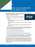 Guia Para La Declaracion de La Renta 2018