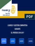 Presentación Gestión Rotary Valera 2016-2017