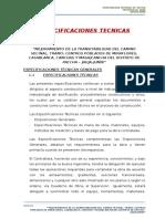 ESPECIFICACIONES TECNICAS TOROPACCHA