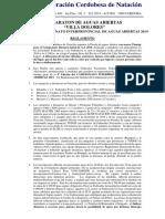 Villa Dolores 2019 Reglamento Interprovincial Aguas Abiertas 1