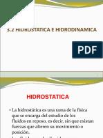 HIDROSTATICA E HIDRODINAMICA