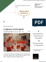 Apocalipsis Mariano - La Iglesia y La Anti-iglesia