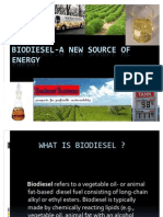 Biodiesel-A New Source of Energy