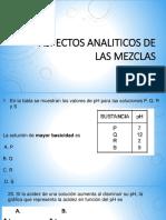 Aspectos Analiticos de Las Mezclas