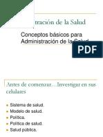 Conceptos básicos para administración de la salud
