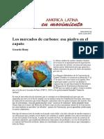 Mercado Carbono en America Latina y el cambio climático