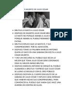 Resumen de La Muerte de Julio Cesar