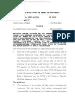 Quashing Defamation Petition
