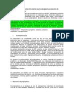 Un Estudio Sobre El Diseño de La Planta de Proceso Para La Producción de Polipropileno Traducido