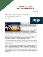 Alternativas Postpetroleras para Venezuela - Gudynas