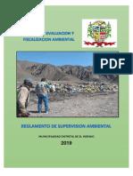 Reglamento de Supervisión Ambiental -El Inegnio