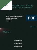 A Study of Pedestrian Behaviour