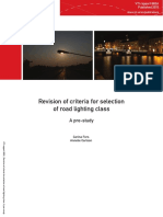 Revision of criteria for selection of road lighting class