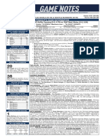 07.20.19 Game Notes