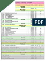 Calendario Examenes Julio 2019
