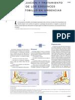 Evaluación y tratamiento de los esguinces de tobillo en urgencias