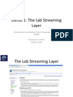 Demo 1 the Lab Streaming Layer