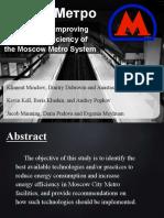 Mejorar suministro de energia en el Metro de Moscu