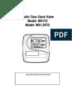 Time Clock Valve WS1TC, WS1.25TC Installation Instructions