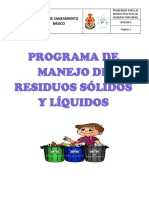Anexo 6.2. Programa de Residuos Sólidos y Líquidos
