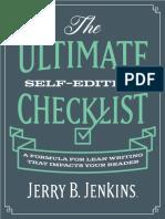 The Ultimate Self Editing Checklist