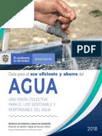 Guía uso eficiente y ahorro del agua