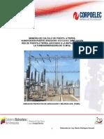 Memoria de Cálculo del SPAT Turbogeneradora de 15 MVA SE Puerto Ayacucho 115 kV.Def..pdf