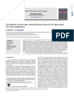 Timoshenko Versus Euler Bernoulli Beam Theories for High Speed Two Link Manipulator