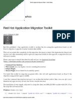 Red Hat Application Migration Toolkit – Jaehoo Weblog