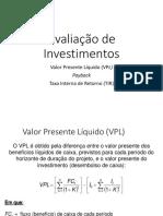 Análise de Investimento para Projetos Rurais
