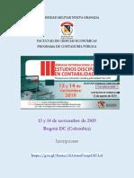 Jornadas de Estudios Disciplinares en Contabilidad 2019 v.3