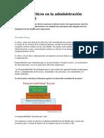 Principios Éticos en La Administración Empresarial