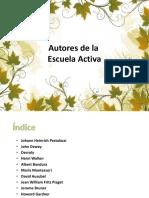 AUTORES DE LA ESCUELA ACTIVA
