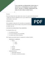 Parametro de Evaluacion de Las Infraestructuras Para La Calidad de Servicio en La Universidad Nacional Jorge Basadre Grohmann