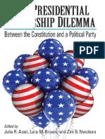 Liderança democrática nos EUA - O papel do presidente.