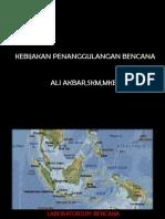 01 Kebijakan Penanggulangan Bencana Fk