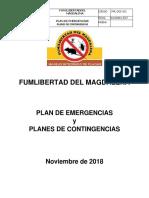 Plan de Emergencias Fumigaciones