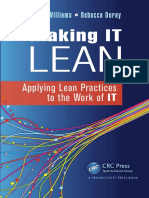 Making It Lean Applying Lean Practices to the Work of It