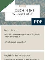 English at Workplace