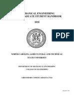 NC a&T SU Mechanical Engineering Student Handbook