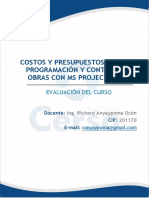 Sesión 8_Evaluación Curso Costos Presupuestos y Programación.2019_P- EXAMEN FINAL
