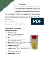 Ácido Nitrico, Nitrato de Amonio y Metilaminas